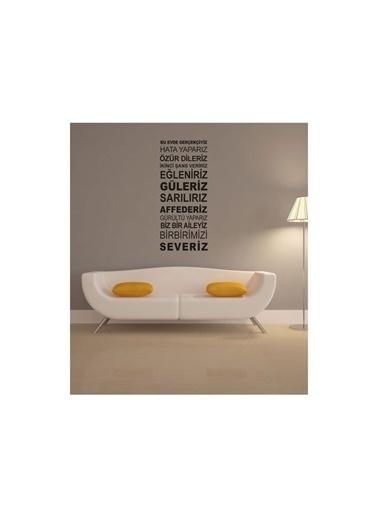 Artikel Bu Evde Gerçekçiyiz Duvar Yazısı 135x57 cm Renkli